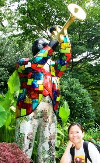 Niki in the Garden Artwork, Louis Armstrong, Atlanta, Georgia, USA