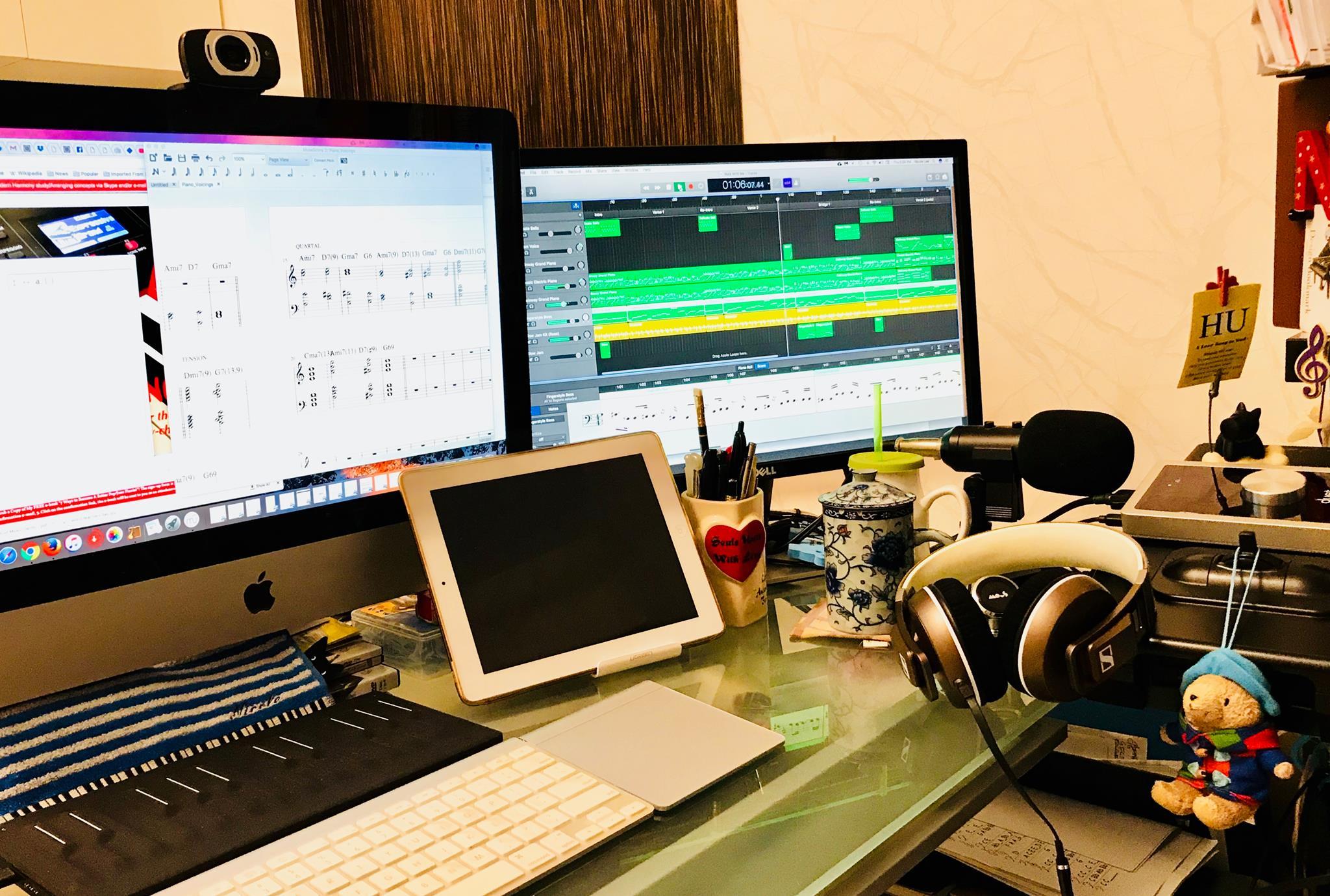 MPR Studio desk setup